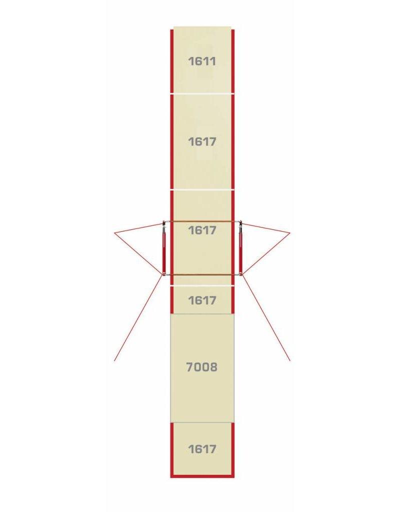 Gymnova Configuratie mat ongelijke brug