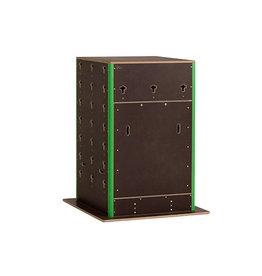 CS 400002 - Cube Rock klein met deur - gepersonaliseerd langs 2 zijden