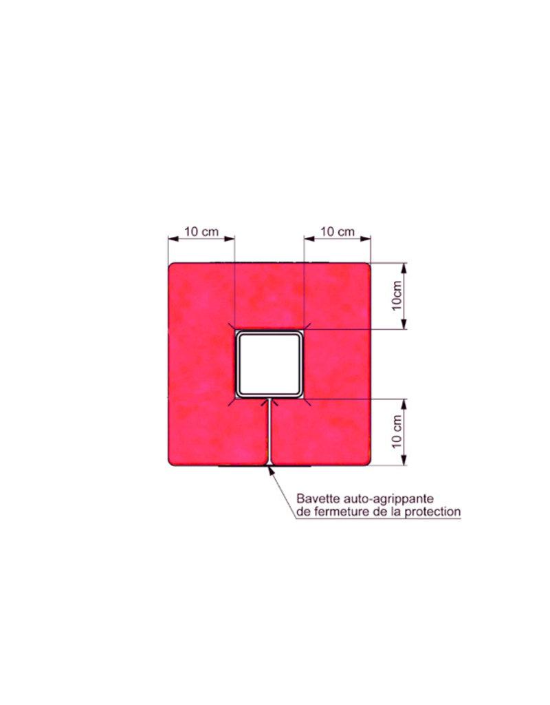 Gymnova Ref. 2452 - Vierkante paalbescherming voor binnen en buiten