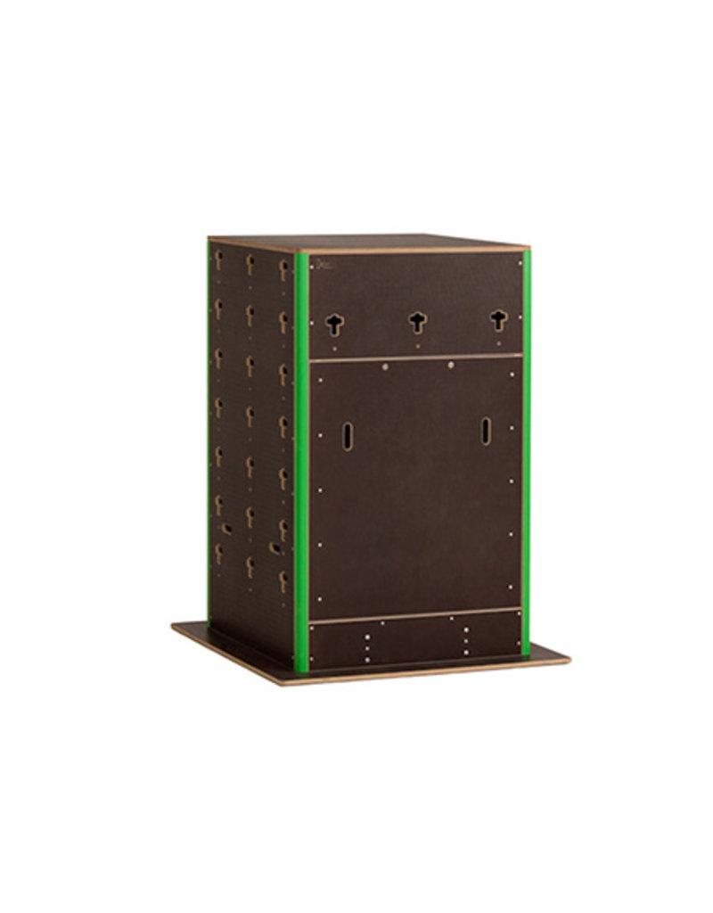 CS 400016 - Cube Rock klein  met deur en rek - gepersonaliseerd langs 2 zijden