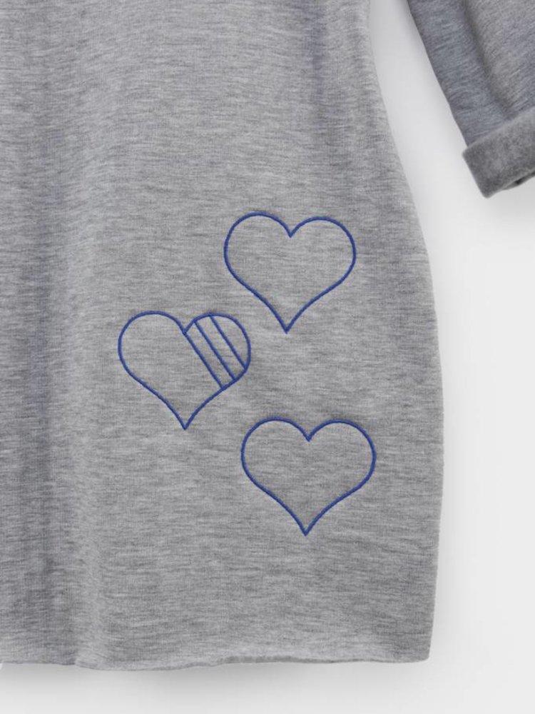 From Paris GIRL SWEATSHIRT DRESS × GREY / BLUE
