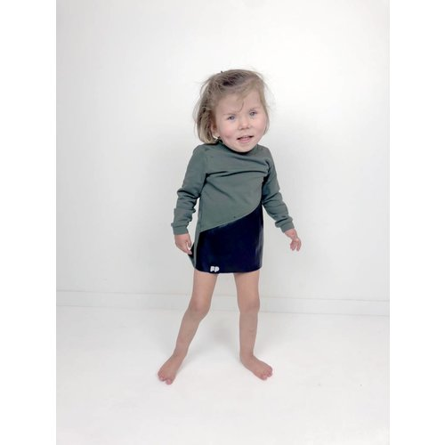 GIRL KHAKI SWEATSHIRT DRESS