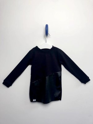 From Paris GIRL BLACK SWEATSHIRT DRESS