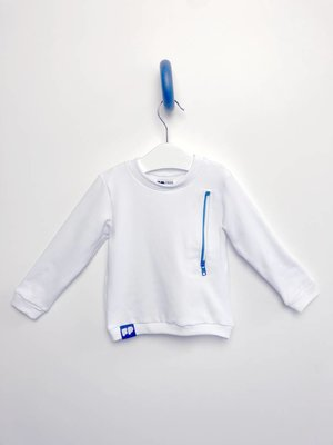 From Paris UNISEX WHITE ZIPPER SWEATSHIRT