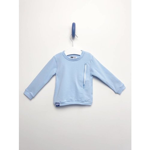 From Paris BOY BLUE ZIPPER SWEATSHIRT