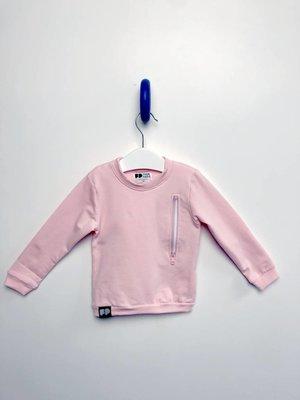 From Paris GIRL ZIPPER SWEATSHIRT × PINK