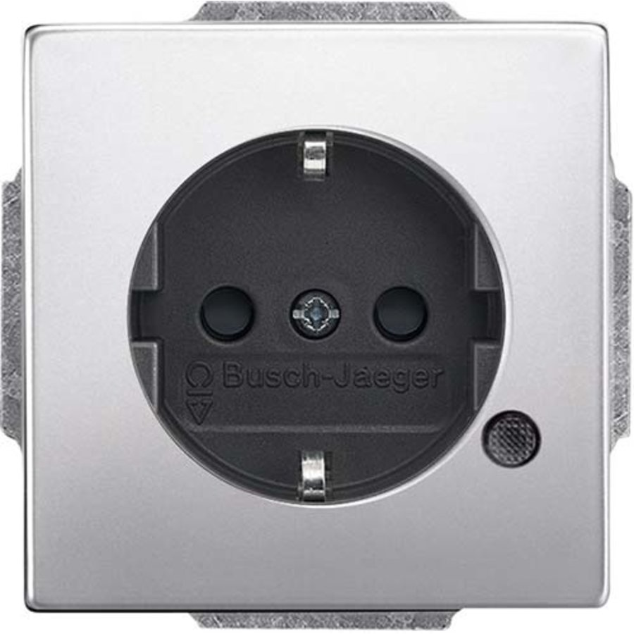 wandcontactdoos randaarde LED-controleverlichting Pure Stainless Steel (20 EUCBL-866)