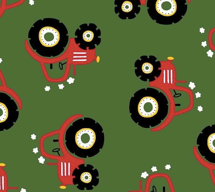 Traktor grün - rot