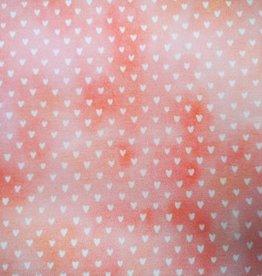 Batik Herz - orange rosa