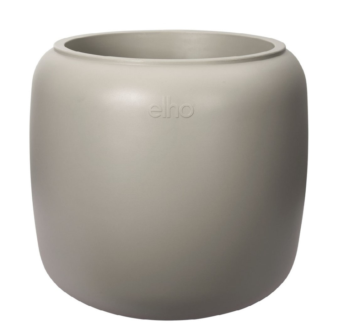 ELHO ® Pure Beads Small Ø 40 (Balanced Beige) met Pannenkoekenplant XL (Pilea Peperomioides - 39,2x50 cm)