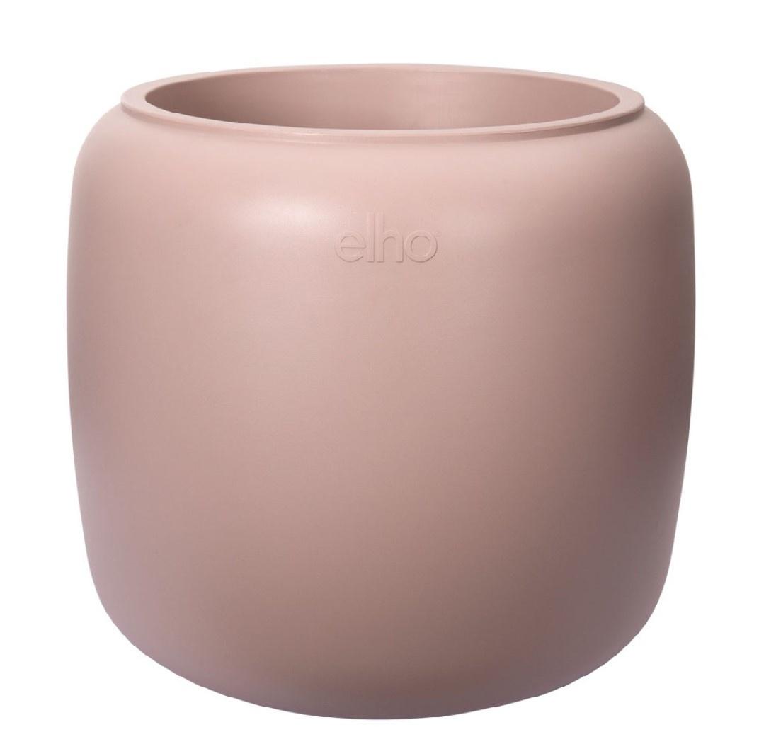 ELHO ® Pure Beads Small Ø 40 (Pebble Pink) met Pannenkoekenplant XL (Pilea Peperomioides - 39,2x50 cm)