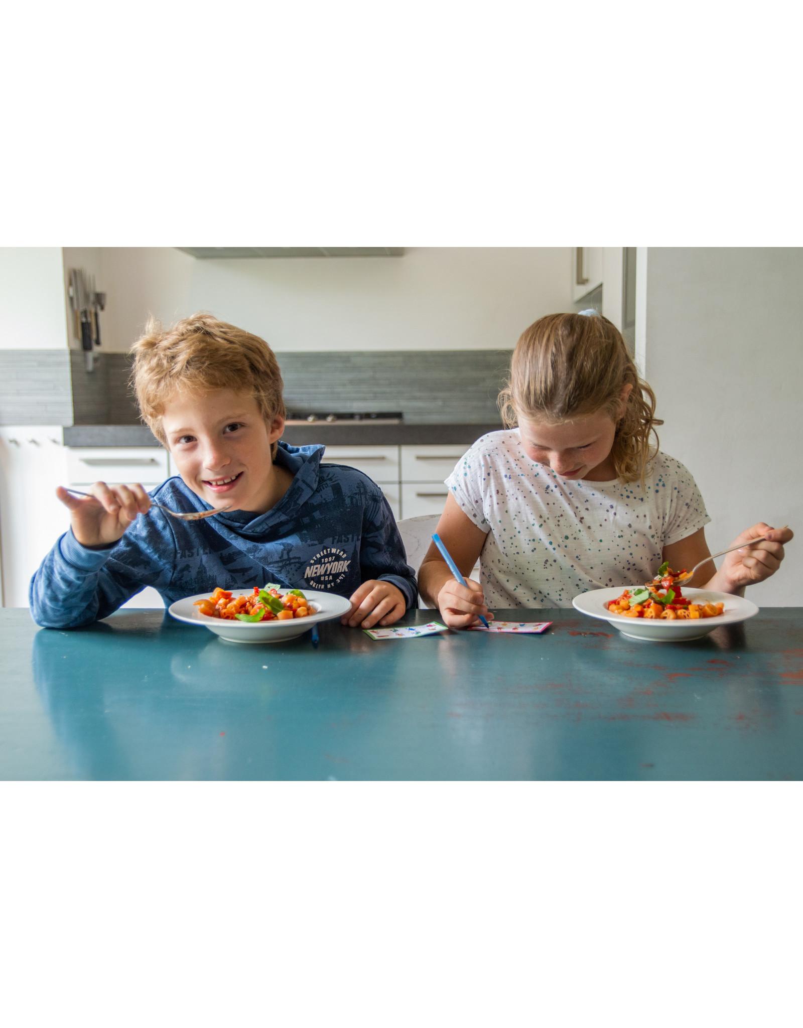 Glutenvrije, biologische linzenpasta met BINGO spel
