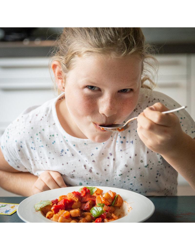 Biologische Snekkies, Spelletjes pasta en Dippies met 20% korting!