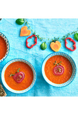 3 x 500 ml verse tomaat/paprika soep met leuke bordspellen en dobbelsteen