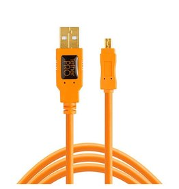 TetherTools TetherTools TetherPro USB2 A to Mini-B 8 pin 15' (4,6m) - orange