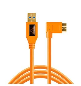 TetherTools TetherTools TetherPro USB3 to Micro-B Right Angle, 15' (4,6m)  - orange
