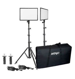 Ledgo Ledgo E268C Bi-Color kit w/light stands - 2 lights