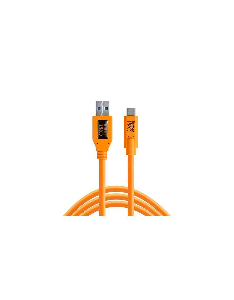 TetherTools TetherPro USB 3.0 to USB-C, 15' (4.6m) ORG