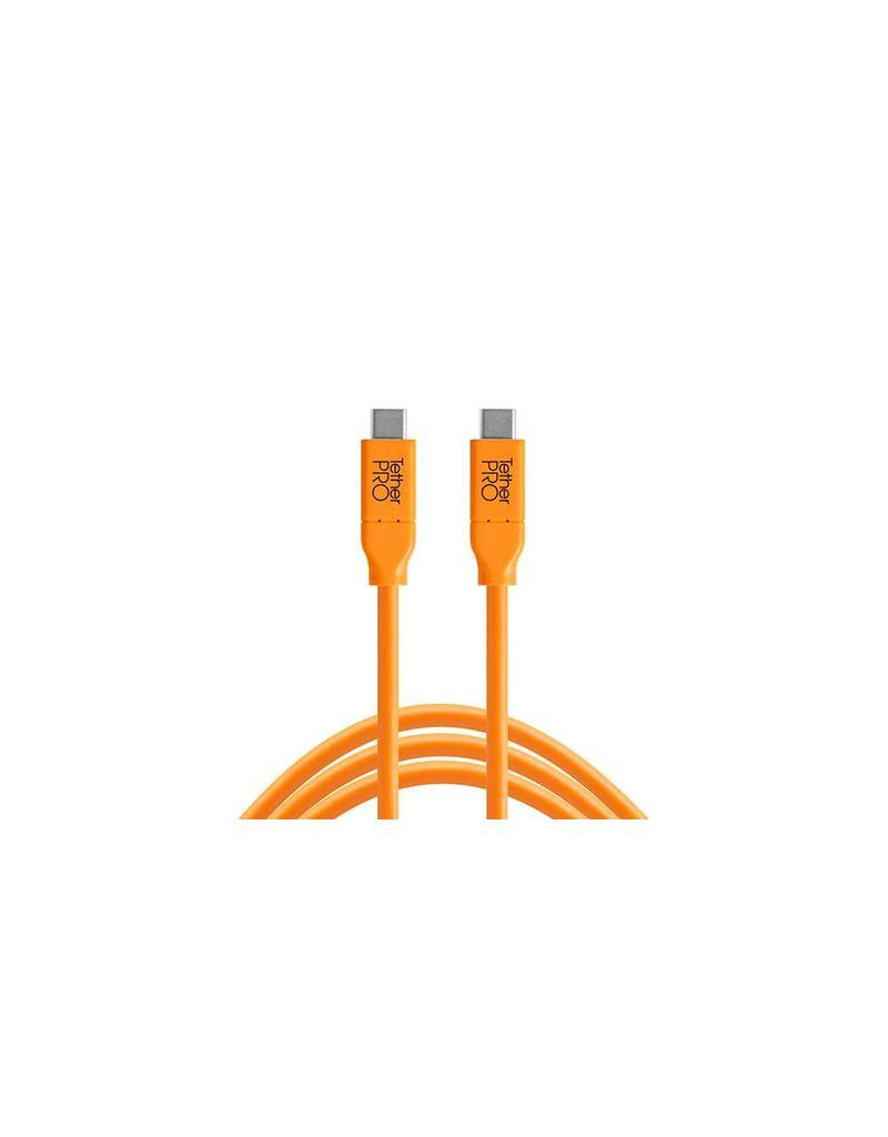 TetherTools TetherPro USB-C to USB-C, 15' (4.6m) ORG