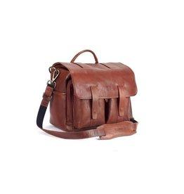 4VDesign 4V Design Leather Camera Bag Luca brown