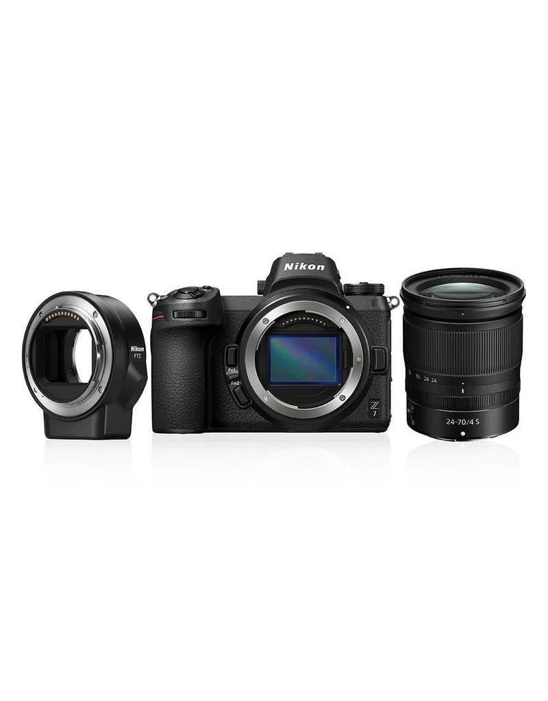 Nikon PREORDER Nikon Z7 + 24-70mm f4 + FTZ Adapter KIT + GRATIS XQD64GB