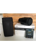 Sigma 2dehands Sigma 50-100 1.8 voor Canon + HDX Protector