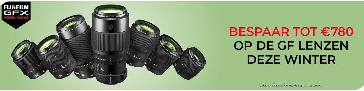 Fuji GFX lens promotie.
