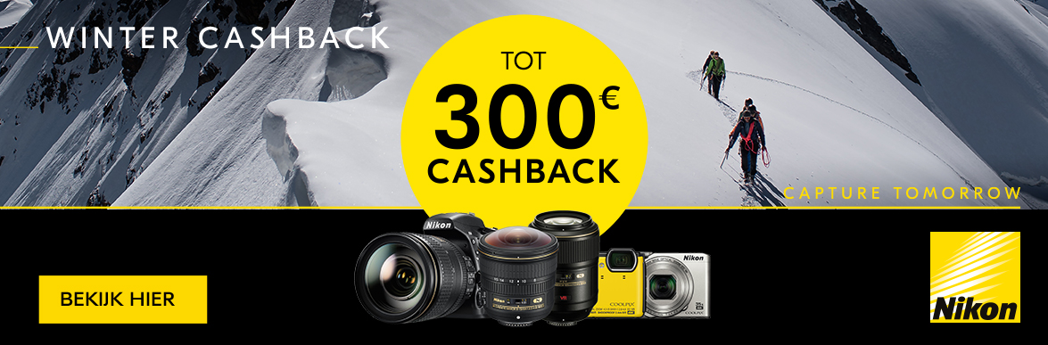 Nikon Winter Cashback Promotie
