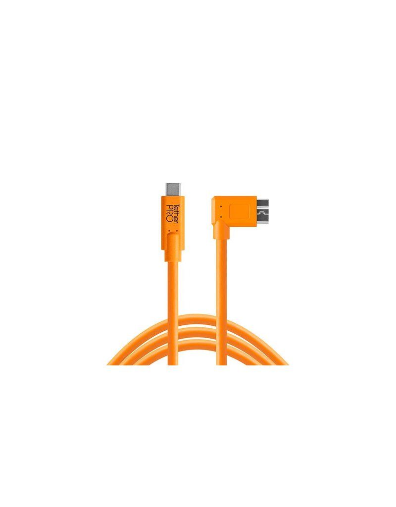 TetherTools TetherTools TetherPro USB-C to Micro-B Right Angle, 15' (4,6m)  - orange