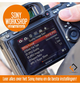 Sony Workshop Sony instellingen Vrij 17 mei