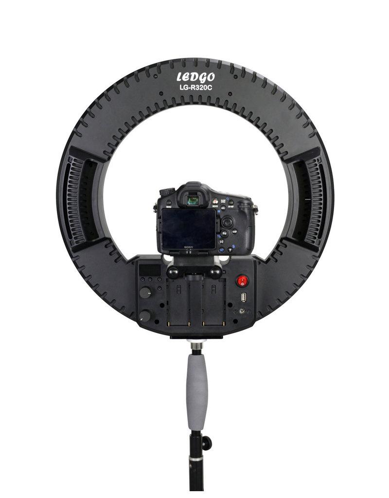 Ledgo Ledgo R320C Ring Light w/ adapter (including bag)