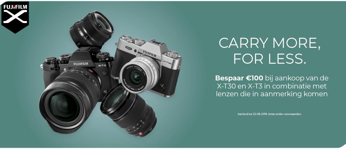 Fujifilm X-T30 & X-T3 promo