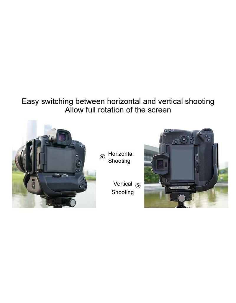 Sunwayfoto Sunwayfoto L-Plate voor Canon R met grip PCL-RG