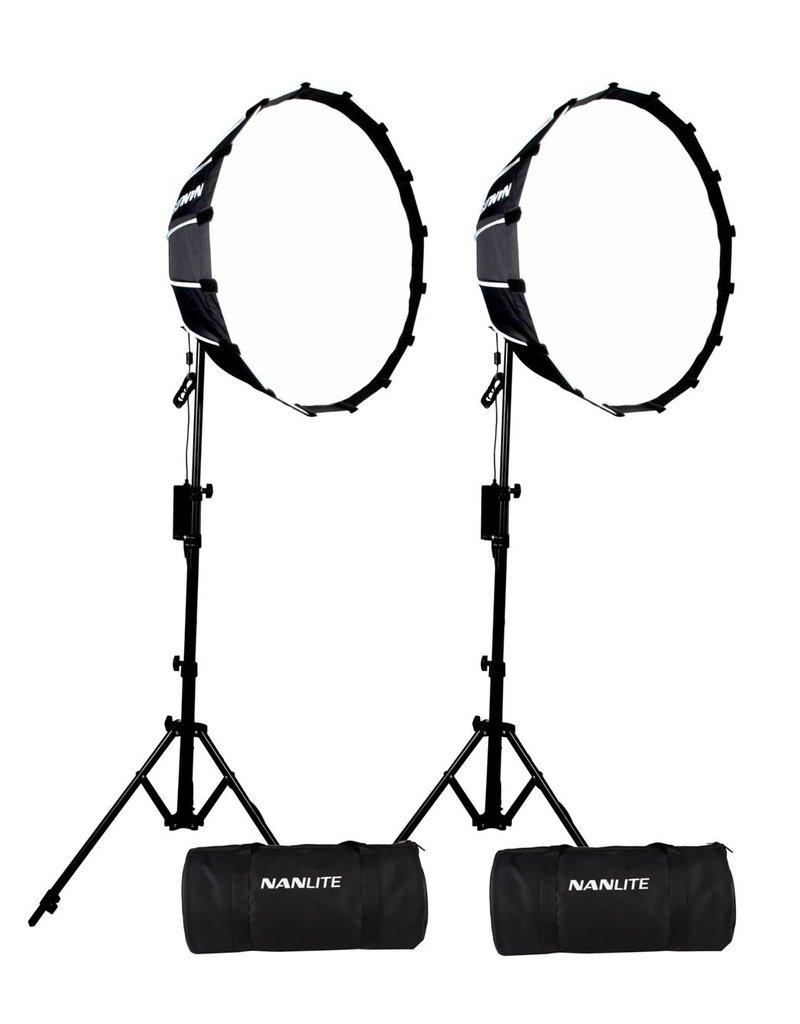 Nanlite Nanlite Forza 60 LED dual kit (w/ light stand and softbox)