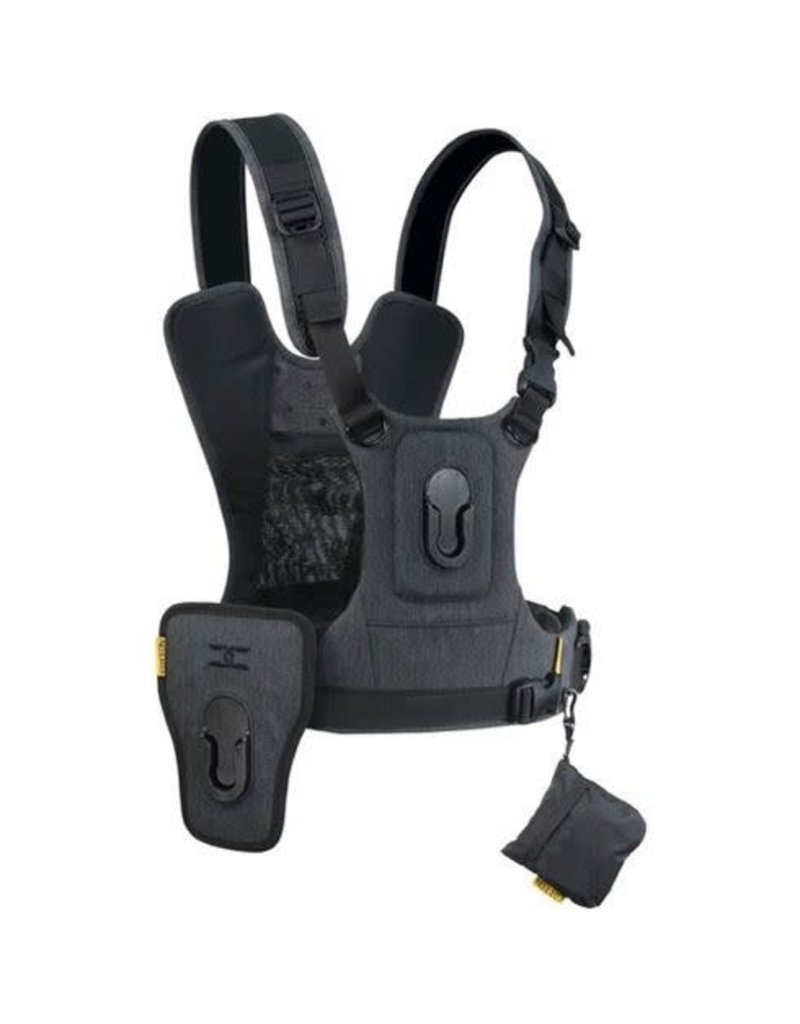 Cotton Carrier Cotton Carrier Camera Vest voor 2 camera's met heupholster