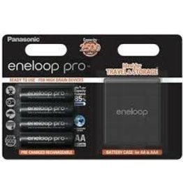 Eneloop Eneloop Pro 4x AA 2500Mah + case