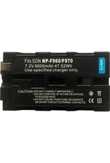 XFLion FXLion NP-F970 6600mAh Sony