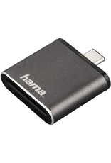 Hama Hama USB-3.1-Type-C-UHS-II-OTG-kaartlezer, SD, grijs