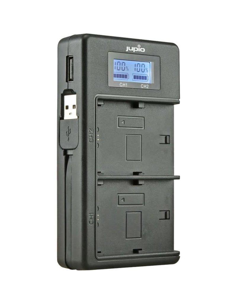 Jupio Jupio USB Dedicated Duo Charger LCD for Fuji NP-W126(S)