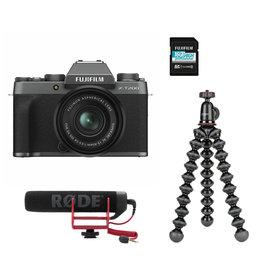 Fujifilm Fujifilm X-T200 systeemcamera Donker Zilver + XC 15-45mm Vlogger Kit