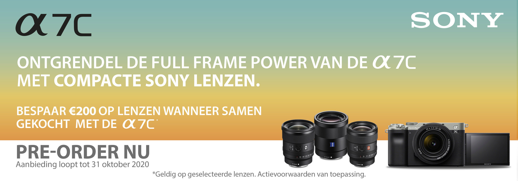 Sony A7C pre-order promotie korting