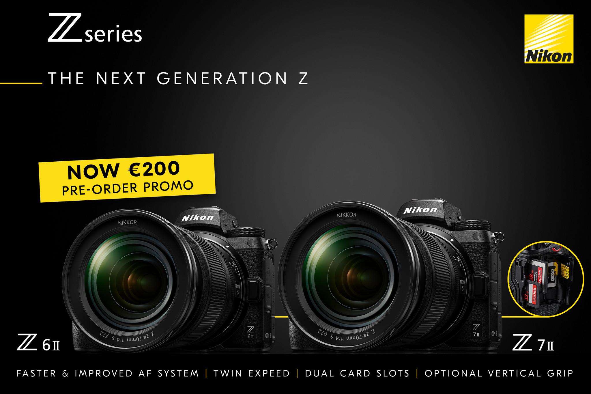 Nikon Z6II en Z7II pre-order promotie korting