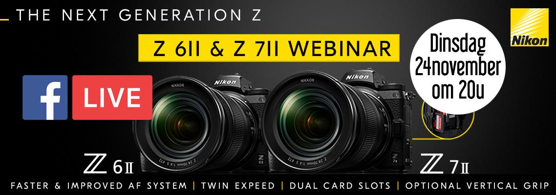 Nikon Z6II en Z7II Facebook LIVE Webinar