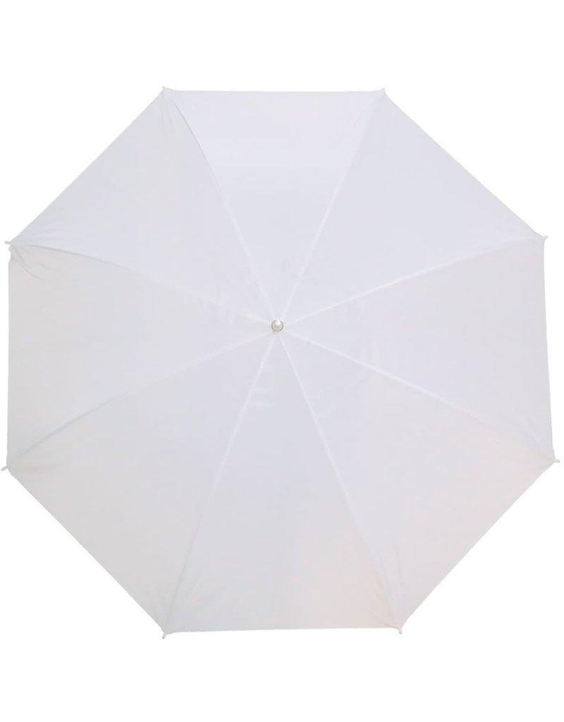 Caruba Caruba Paraplu Translucent Wit 100cm