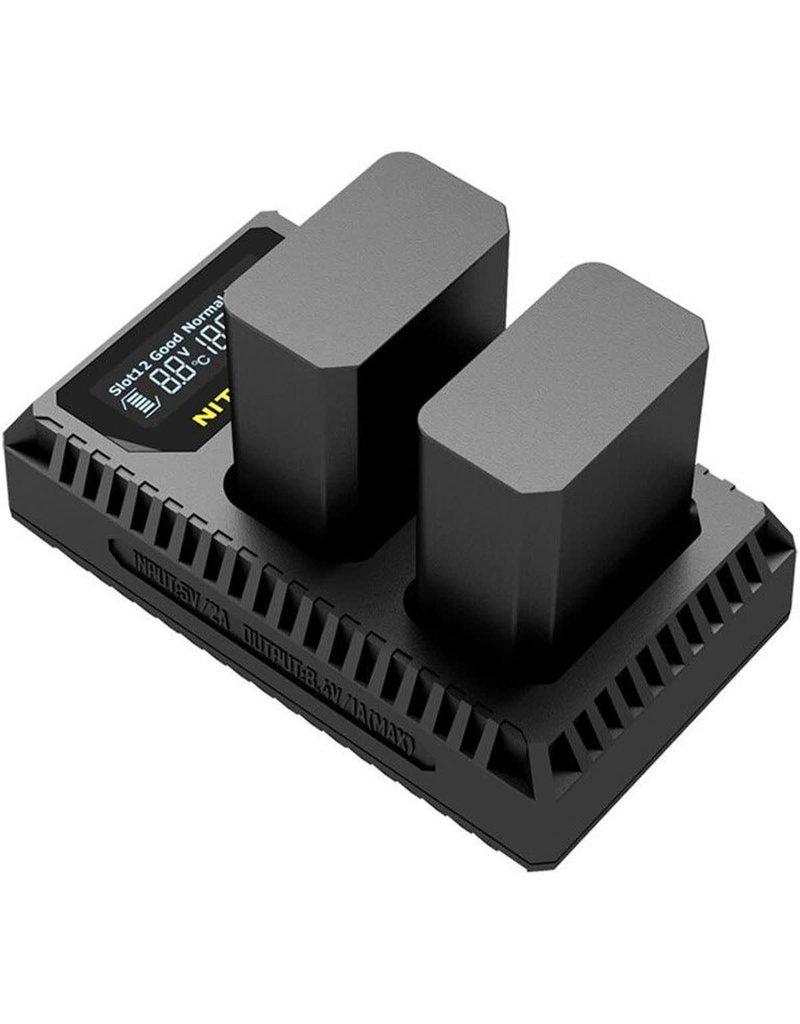 Nitecore Nitecore USN1 Comp. Dubbel Lader voor NP-FW50 + USB
