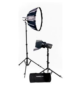 Nanlite Nanlite Forza 60B LED dual kit (w/ case, light stand, fresnel and softbox)