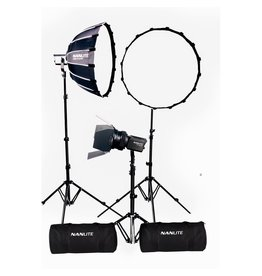 Nanlite Nanlite Forza 60 LED tripple kit (w/ case, light stand, fresnel and softbox)