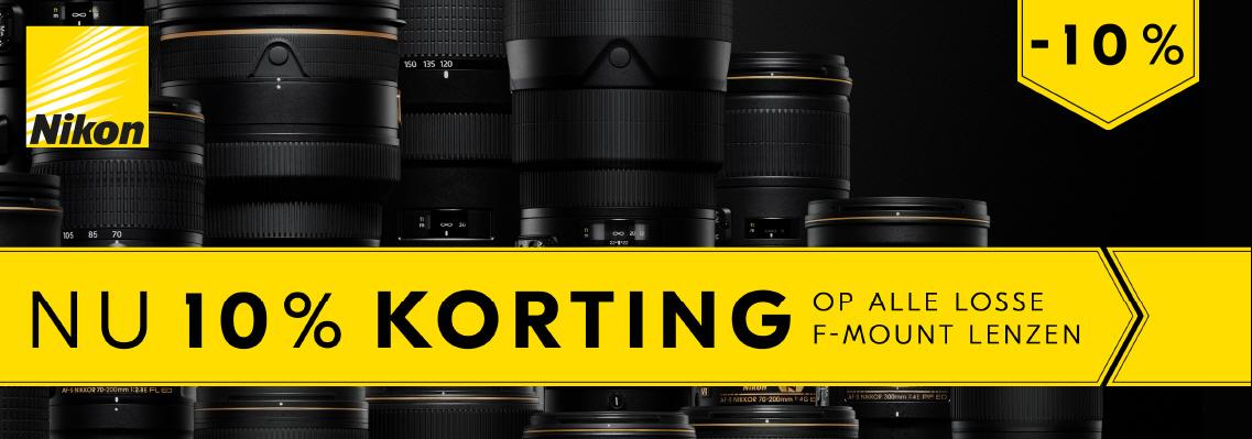 Nikon 10% korting f-mount lenzen