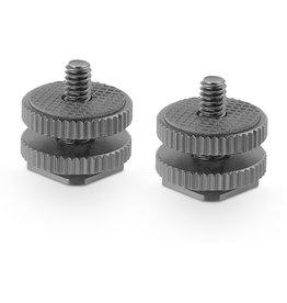 SmallRig SmallRig 1631 Cold Shoe Adap. w/ 3/8 to 1/4 Thread (2pcs)