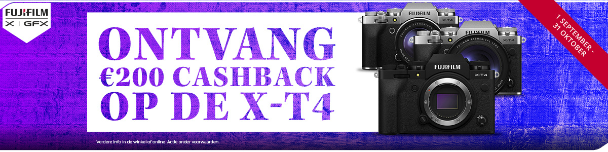 Fujifilm cashback op X-T4